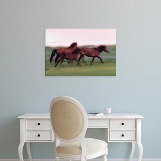 Easy Art Prints Gavriel Jecan's 'Gobi Desert Wild Horses' Premium Canvas Art
