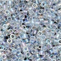 Miyuki Delica Seed Beads 11/0 Crystal AB DB051 7.2 Grams