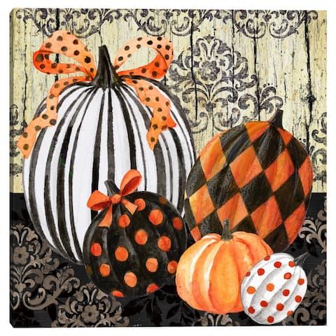 Elegant Pumpkins by Elena Vladykina Canvas Art Print