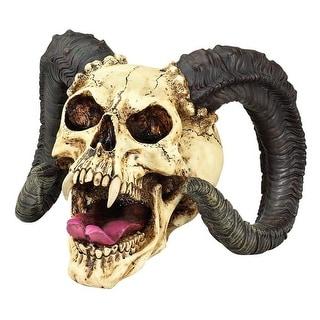 Design Toscano Halloween  The Skull of the Horned Beast Sculpture