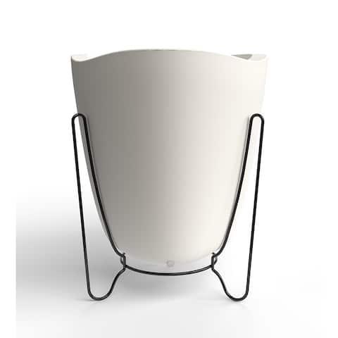 Large Tryas Resin/ Metal 2-Piece Pot Planter