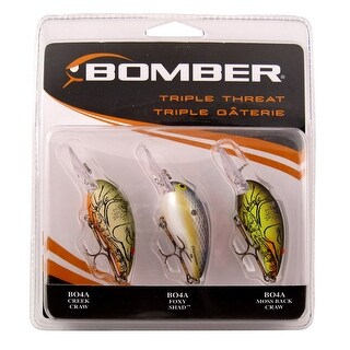 Bomber Triple Threat 1/4 oz Fishing Lures - Green