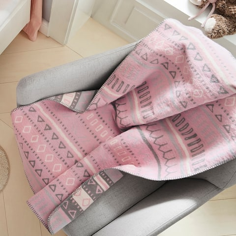 s.Oliver Pink Organic Cotton Tribal Baby Blanket