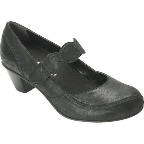 Drew Women's Monaco Mary Jane Dusty Black Leather