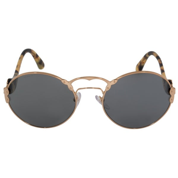 faa2a847b1b Shop Prada Wanderer Round Sunglasses PR55TS 7OE9K1 57