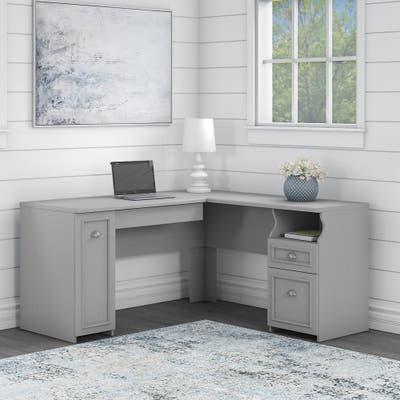 Fairview L-Shaped Desk and Storage Cabinet by Bush Furniture