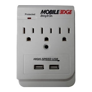 Mobile Edge Dual Power DX (3 AC and 2 USB Wall Outlet) White - us one size (size none)