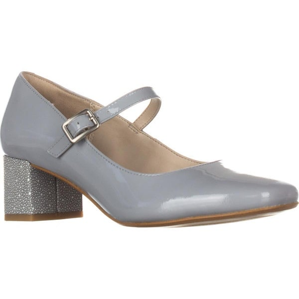 Clarks Chinaberry Pop Mary Jane Heels, Grey/Blue