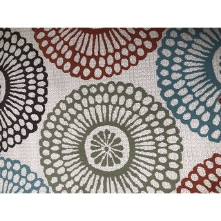 The Curated Nomad Wilson Floral Beige/Blue Indoor-Outdoor Area Rug