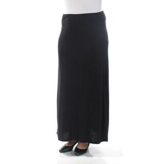 Womens Black Maxi ALine Skirt Size L
