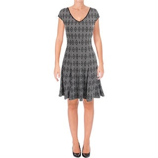 Taylor Womens Casual Dress Patterned Jacquard - 8