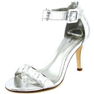 Style & Co Tylda Women Open Toe Synthetic Silver Platform Sandal
