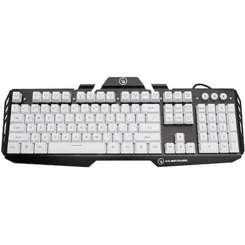 IOGEAR Kaliber Gaming HVER Aluminum Gaming Keyboard - Imperial White (GKB704L-WT) IOGEAR Kaliber Gaming HVER Aluminum Gaming