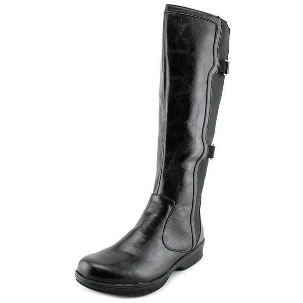 Life Stride Venture Women W Round Toe Leather Knee High Boot