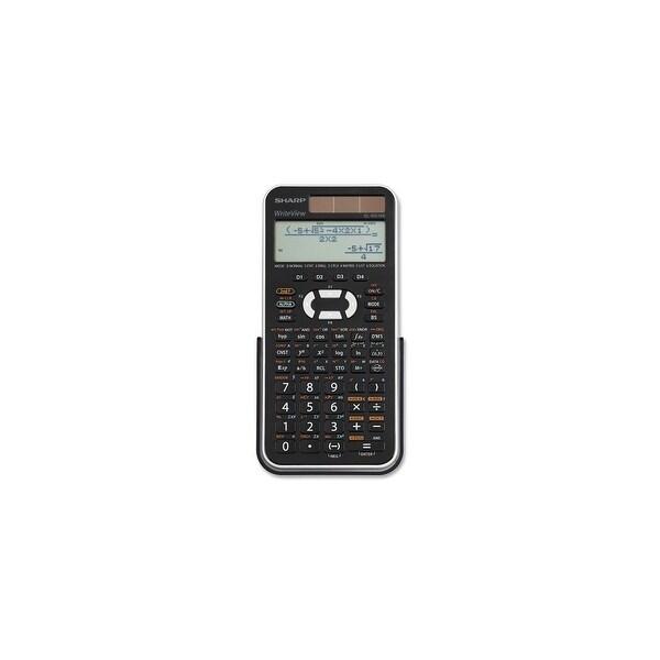 """Sharp EL-W516XBSL Sharp ELW516X Scientific Calculator - Battery/Solar Powered - 1.1"""" x 5.8"""" - Black, Silver - 1 Each"""