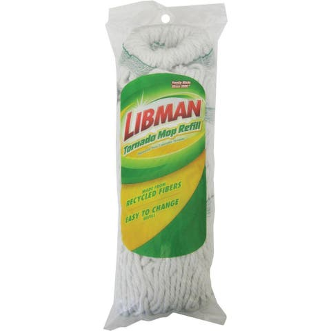 Libman 2031 Tornado Mop Refill, 100% Synthetic Yarn