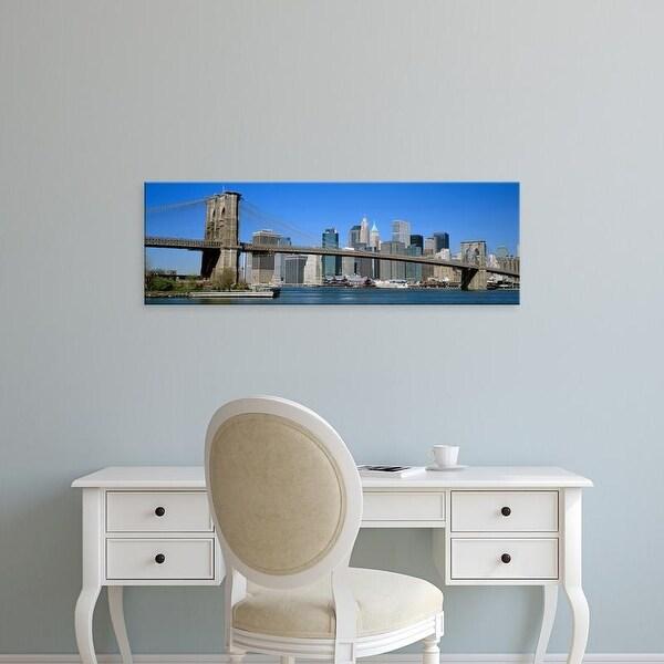Easy Art Prints Panoramic Images's 'USA, New York, Brooklyn Bridge' Premium Canvas Art