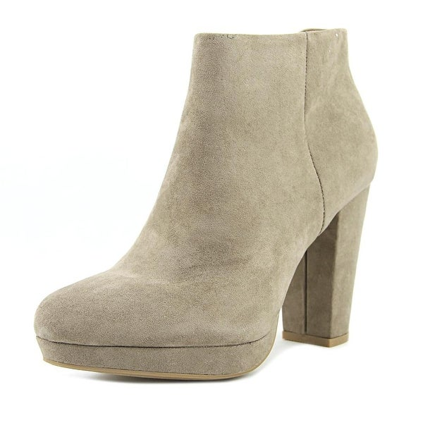 New Directions Jenny Women Round Toe Canvas Gray Bootie