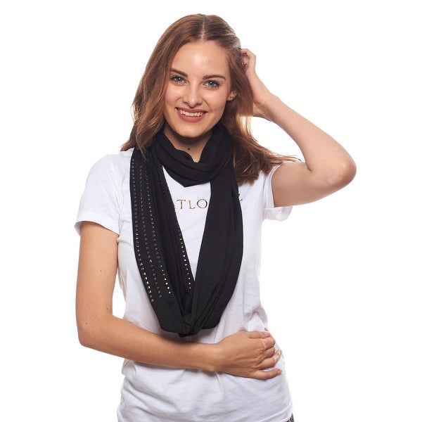 Simply Studs Knit Infinity Scarf