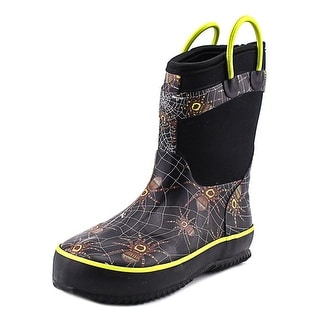 Western Chief Spider Prey Neoprene Youth Round Toe Synthetic Black Rain Boot