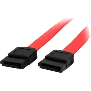 StarTech SATA12 StarTech.com 12in SATA Serial ATA Cable - Male SATA - Male SATA - 12 - Red