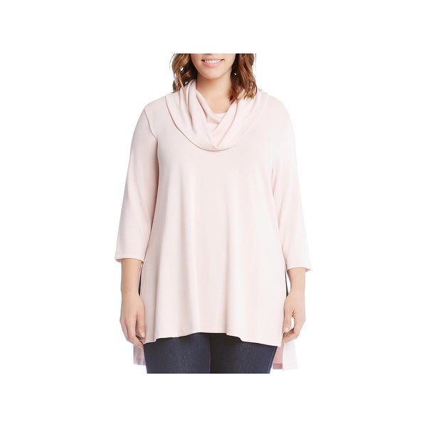 f653b3bfe0e47 Shop Karen Kane Womens Plus Pullover Sweater Office Wear Cowl Neck ...