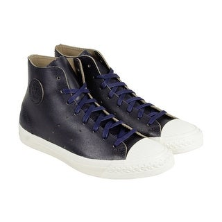 PF Flyers Rambler Mens Blue Leather High Top Lace Up Sneakers Shoes