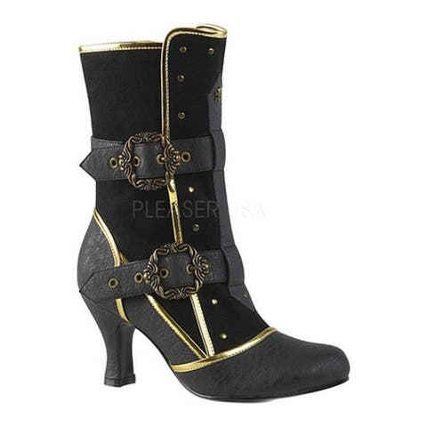 Funtasma Women's Matey 205 Boot Black Distressed Synthetic/Microfiber