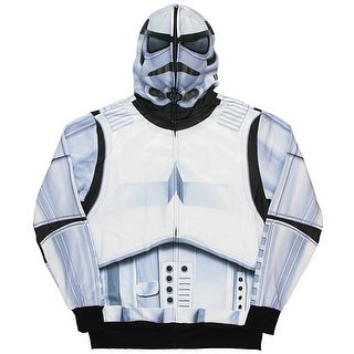 Star Wars Men's Stormtrooper Full Zip-Up Mask Costume Hoodie Polyester (5 options available)