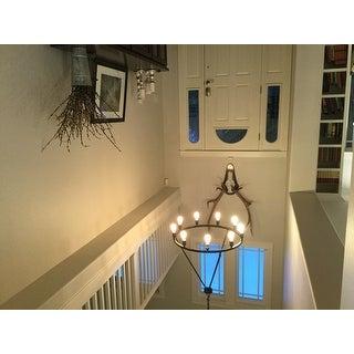Shea Bronze Edison Bulb 9-light Chandelier