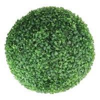 "19"" Artificial Two Tone Green Boxwood Topiary Garden Ball"