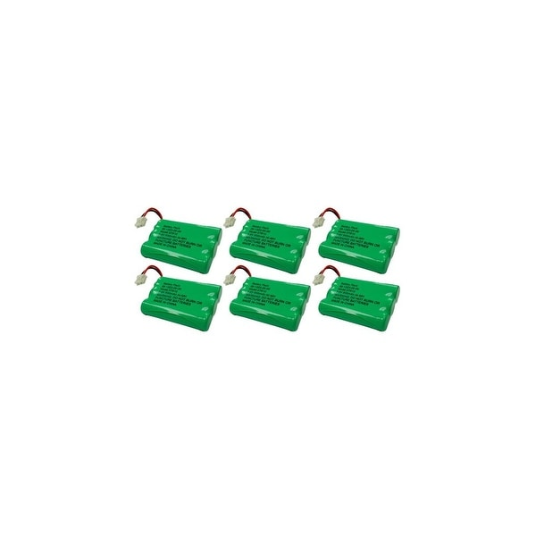 Replacement Battery For VTech DS4121-2 Cordless Phones - 27910 (600mAh, 3.6V, NiMH) - 6 Pack
