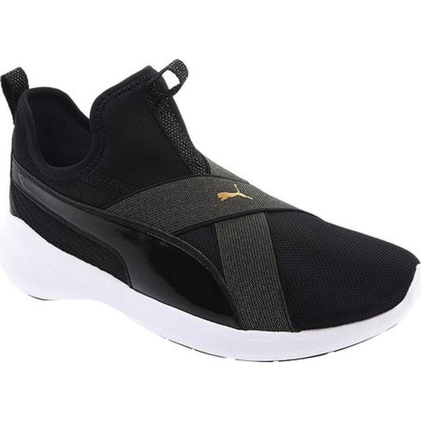 350ad81cd938 Shop PUMA Women s Rebel X Bling Slip-on Sneaker Puma Black Puma ...