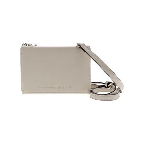 BCBGeneration Womens Cody Day Crossbody Handbag Faux Leather Classic Box - Small