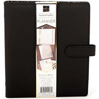 "Black - DCWV Moment Maker Planner System 6-Ring Binder 8.25""X9.5"""