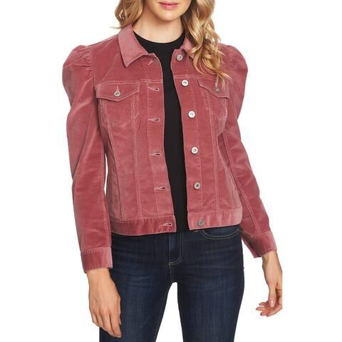 Sanctuary Pink Women's Size Medium M Corduroy Puff Sleeve Jacket