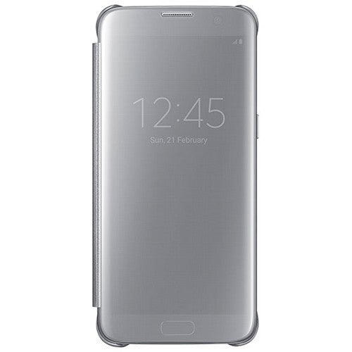 Samsung S-View Flip Cover Clear for Samsung Galaxy S7 edge - Clear/Silver S-View Flip Cover