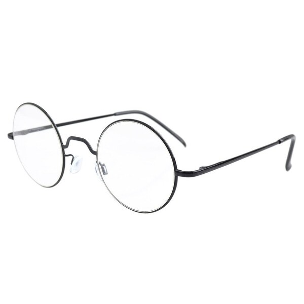 4553096f8e83 Shop Eyekepper Spring Hinges Round Reading Glasses Black +4.0 - Free ...