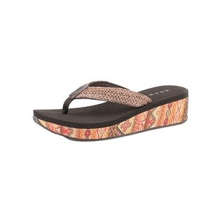 Roper Western Shoes Womens Faux Leather Kyra Wedge 09-021-0607-1180 BR