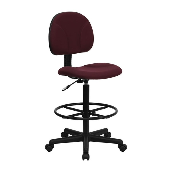 Offex Burgundy Fabric Ergonomic Drafting Chair [OF BT 659 BY GG