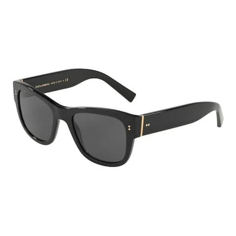 Dolce & Gabbana Square Dg4338 501/87 Mens Black Frame Grey Lens Sunglasses
