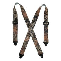 CTM® Men's Elastic TSA Compliant Camouflage Suspenders (Tall Available)