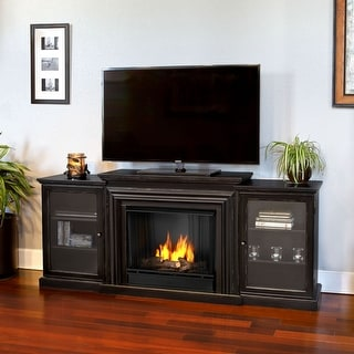 Real Flame 7740-BW Frederick Blackwash Gel Fireplace Entertainment Unit