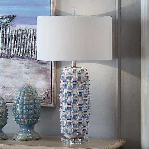 "Hayes 31"" Ceramic Table Lamp - 31""H x 17""Rnd"