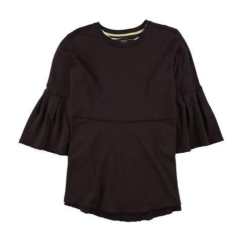 Calvin Klein Womens Bell-Sleeve Tunic Sweater, Purple, 1X