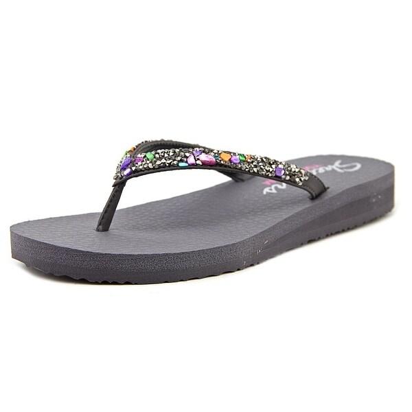 Skechers Meditation-Break Water Women Open Toe Synthetic Gray Flip Flop Sandal