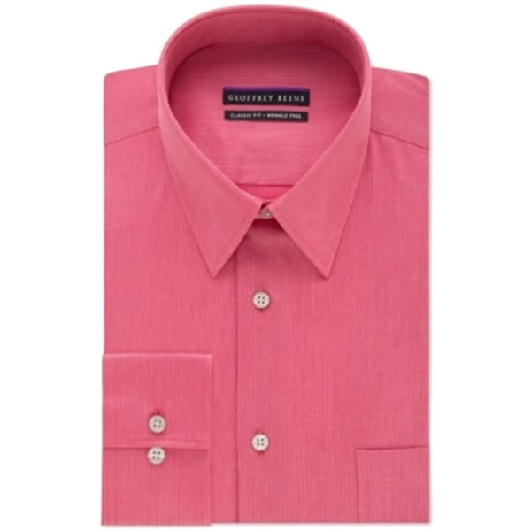 d72927ba761 Shop Geoffrey Beene NEW Red Rose Mens Size 16 1 2 Sateen Striped Dress Shirt  - Free Shipping On Orders Over  45 - Overstock - 17891115