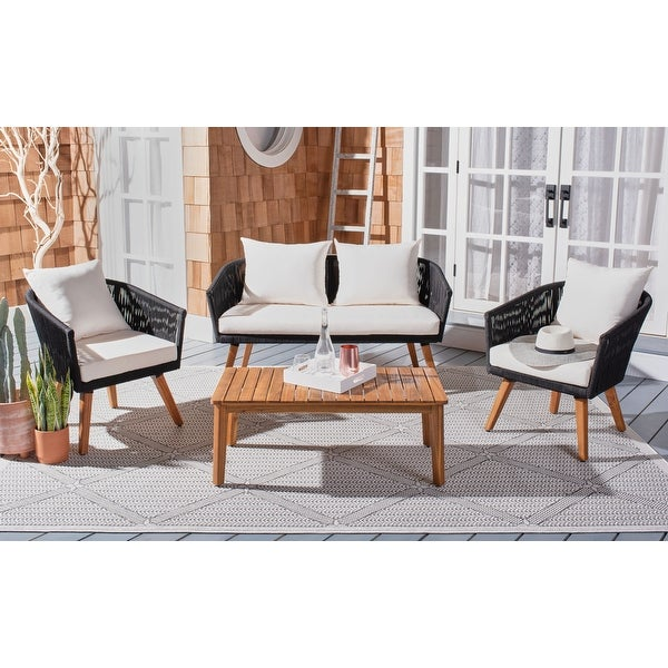 SAFAVIEH Outdoor Velso 4-Piece Patio Set. Opens flyout.