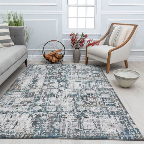 Belle Abstract Medallion Modern Area Rug by Rugs America