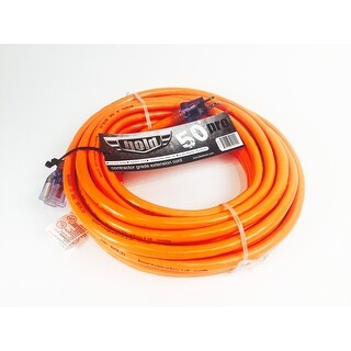 Bold 50' 10/3 AWG SJTW Contractor Grade Lighted Extension Cord, Orange